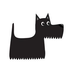 scottish terrier black dog scottie puppy cute vector image