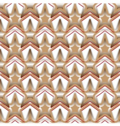seamless pattern consisting of stars vector image vector image