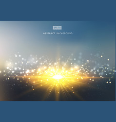 sun shiny sunlight with gold and silver bokeh vector image vector image