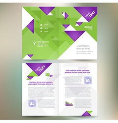 booklet catalog brochure folder geometric triangle vector image vector image