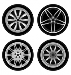 chrome wheel vector image