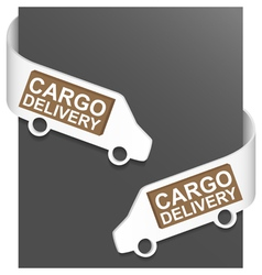 left and right side sign - cargo delivery vector image