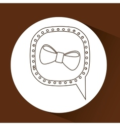 symbol hipster orange bowtie trendy icon vector image