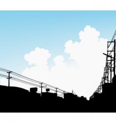 urban clouds vector image vector image