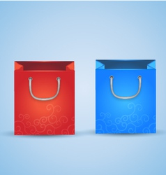 2 Shopping Bags vector image