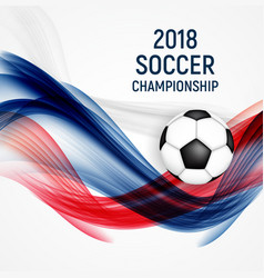 2018 soccer championship background vector