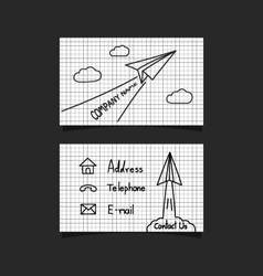 253business card paper plane2 vector image