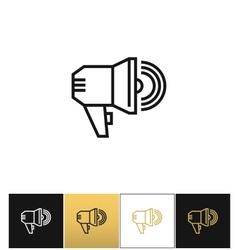 Announcement megaphone sign loudspeaker vector
