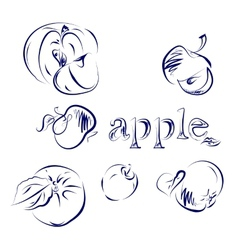 Apple Doodle vector image