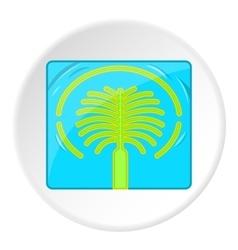 Artificial islands in UAE icon cartoon style vector image