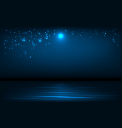 Background sea and night sky with vector
