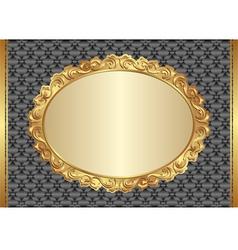 Background with golden antique frame vector