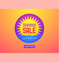 banner of summer sale vector image