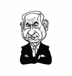 Benjamin netanyahu prime minister of israel vector