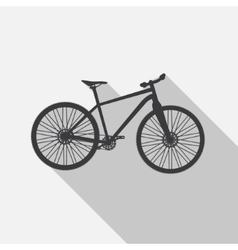 Bicycle Icon wih Long Shadow vector
