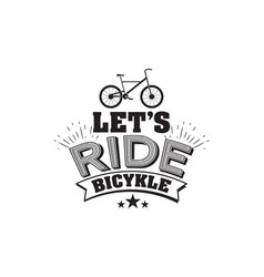 bicycle riding emblem vector image