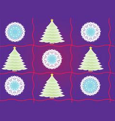 blue cartoon christmas tree seamless pattern vector image