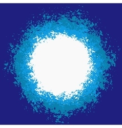 Blue Splattered Painted Background vector image