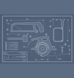 Blueprint building tool set drawing plan layout vector