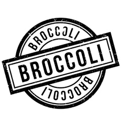 Broccoli rubber stamp vector