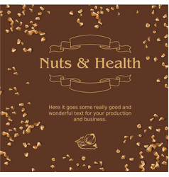 brown background and ground nuts vector image