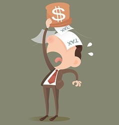 Businessman losing money vector image