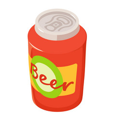 Can of beer icon isometric style vector
