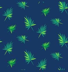 cartoon leaves palm tree seamless vector image