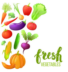 Colorful set of vegetables vector