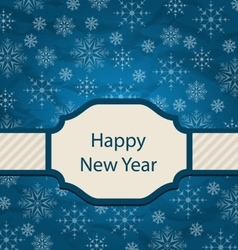 Congratulation Card for Happy New Year vector image