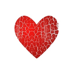 cracked heart vector image vector image