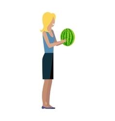 Customer Woman Character vector
