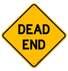 Dead End Sign vector image vector image