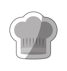 Dotted sticker of chefs hat shading with lines vector