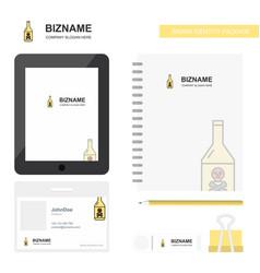 drink bottle business logo tab app diary pvc vector image
