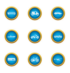 Fare icons set flat style vector
