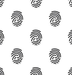 fingerprint seamless pattern vector image