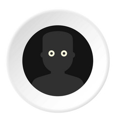 frightened man in the darkness icon circle vector image