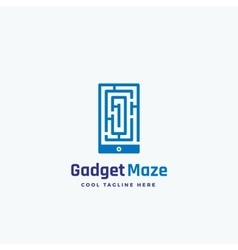 Gadget Maze Abstract Sign Emblem or Logo vector image