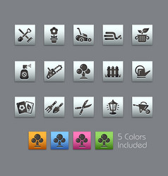 Gardening icons - satinbox series vector