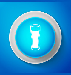 glass beer icon isolated on blue background vector image