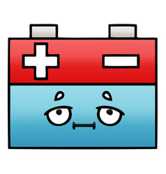 Gradient shaded cartoon car battery vector