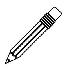 gray contour pencil icon stock vector image