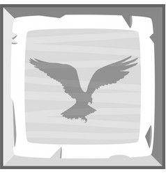 Hand drown old silver ingot tile with eagle vector