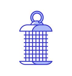 hanging bird feeder icon vector image