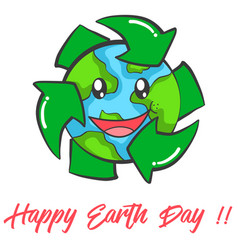 Happy earth day design collection vector