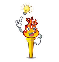Have an idea torch mascot cartoon style vector