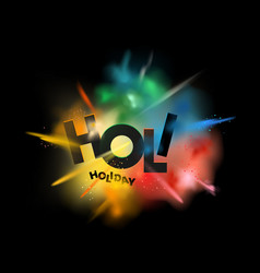 Holi holiday concept abstract powder splatted vector