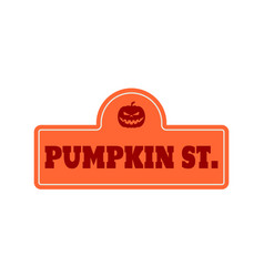 house halloween nameplate vector image
