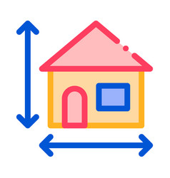 house size height and width thin line icon vector image